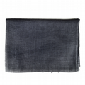 Cotton & Wool Mix Scarf - Charcoal